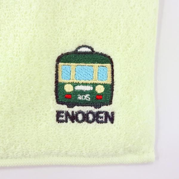 江ノ電タオルハンカチ グリーン enoden-goods 02