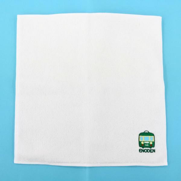 江ノ電タオルハンカチ ホワイト|enoden-goods|03