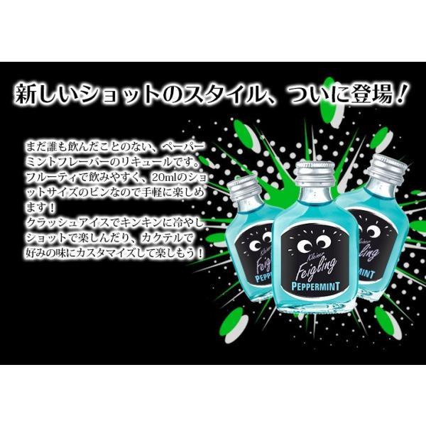 送料無料 クライナーファイグリング ペパーミント 小瓶 20ml×20本 リキュール お酒 15度 正規品 enokishouten 02