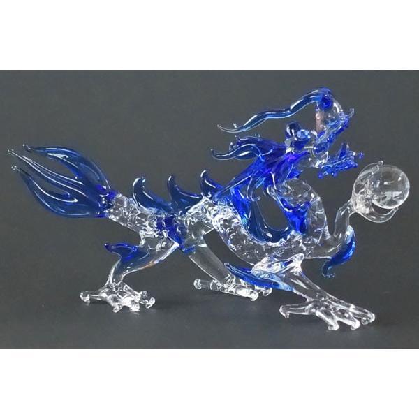龍神様 L 青龍(クリア) ガラス細工 雑貨 置物 :EF-003-BL-L:江の島 ...