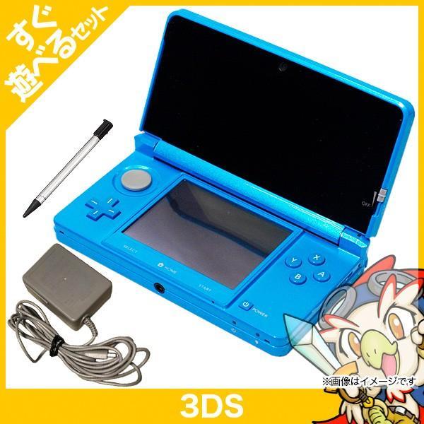 3DS ニンテンドー3DS ライトブルー(CTR-S-BDBA) 本体 すぐ遊べるセット Nintendo 任天堂 ニンテンドー 中古 送料無料|entameoukoku