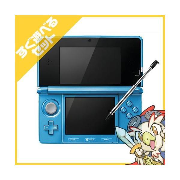 3DS ニンテンドー3DS ライトブルー(CTR-S-BDBA) 本体 すぐ遊べるセット Nintendo 任天堂 ニンテンドー 中古 送料無料|entameoukoku|02