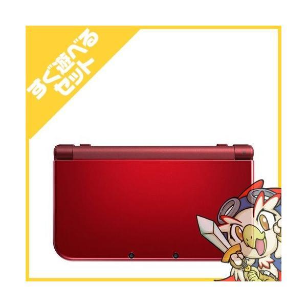 New3DSLL Newニンテンドー3DS LL メタリックレッド(RED-S-RAAA) 本体 すぐ遊べるセット Nintendo 任天堂 ニンテンドー 中古 送料無料|entameoukoku|03