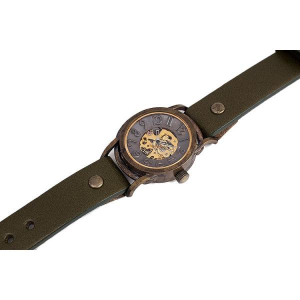腕時計 アンティーク Hand Made アンティーク 腕時計 黒/茶/オリーブ/赤/蜜柑/茄子紺/WB-011 vie 時計 オリジナル 自社 工房 製作 栃木レザー