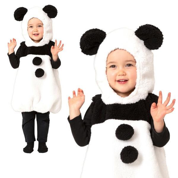コスプレ ハロウィン HW マシュマロパンダ ベビー パンダ 衣装 仮装 着ぐるみ きぐるみ アニマル かわいい 可愛い ハロウィーン パーティー 男の子 女の子
