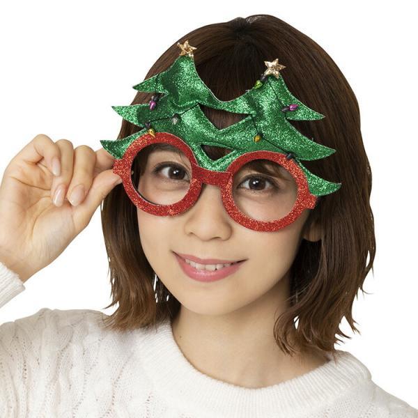 クリスマス コスプレ クリスマスツリー XM キラキラツリーサングラス 衣装 仮装 パーティー イベント コスチューム 出し物 めがね メガネ 眼鏡 小物