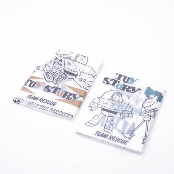 レジ袋 トイストーリー 持ち手付コンビニ弁当用レジ袋 トイストーリー/RGBH1 持ち手付袋 持ち手付き 買い物袋 ポリ袋 マチ付き エンボス加工 包装 消耗品