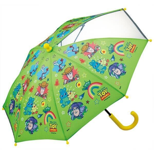 傘 トイストーリー 子供傘35cm トイストーリー/UB0 こども 子ども キッズ かさ 透明窓 前が見える 手動開閉 開閉しやすい 指を挟みにくい 反射テープ