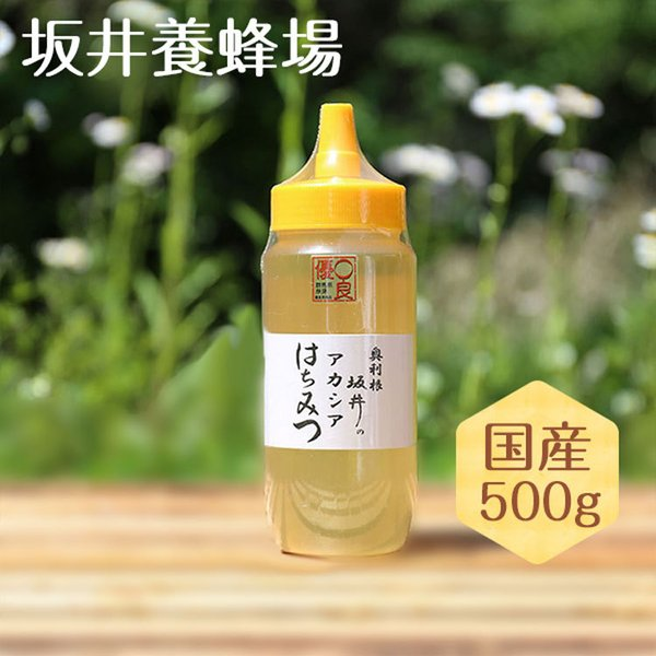 はちみつ 国産 低GI値 特選アカシア蜂蜜500g 無添加 純粋 TA500/坂井養蜂場 はちみつ ハチミツ ハニー 日本産 アカシア スイーツ 低糖質 ビタミン ミネラル