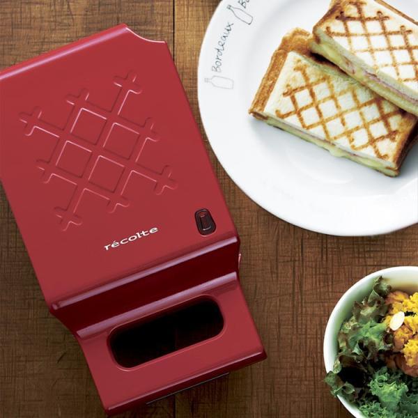 ホットサンドメーカー レコルト プレスサンドメーカー キルト RPS-1 recolte ギフト プレゼント 家庭用 両面焼き トースター 食パン 朝食 おやつ|enteron-shop2|02