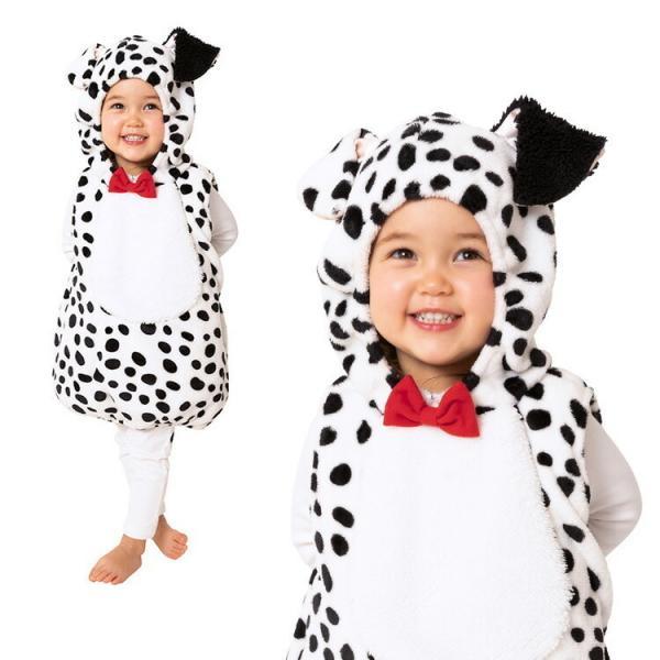10月上旬入荷 コスプレ ハロウィン HW マシュマロダルメシアン ベビー ダルメシアン 犬 ドッグ 101匹わんちゃん 赤ちゃん キッズ 衣装 仮装 着ぐるみ 可愛い