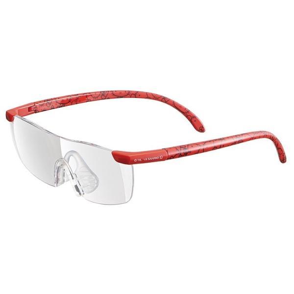 メガネ型拡大鏡 ルーペグラス ハローキティ R) RG1 / めがね キャラクター キティちゃん 虫眼鏡 メガネ キティ 赤 レッド サンリオ 拡大鏡