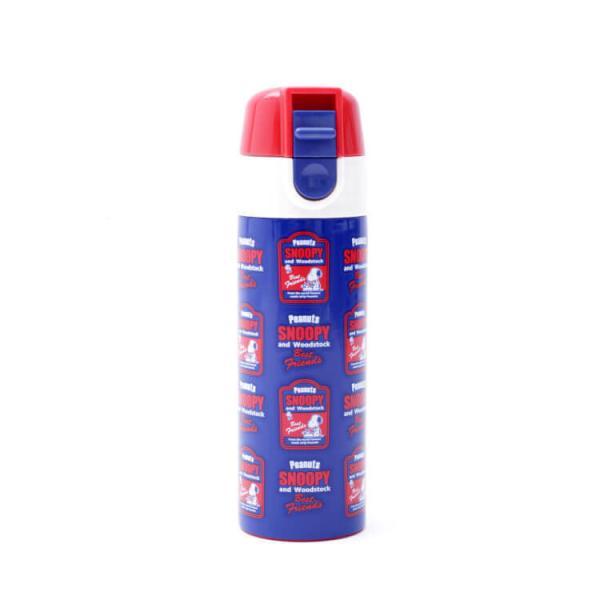 水筒 スヌーピー ワンプッシュステンレスマグボトル スヌーピー レトロラベル/SMBC1D ミニサイズ ポケットサイズ コンパクト 小さい 小さめ 直飲み