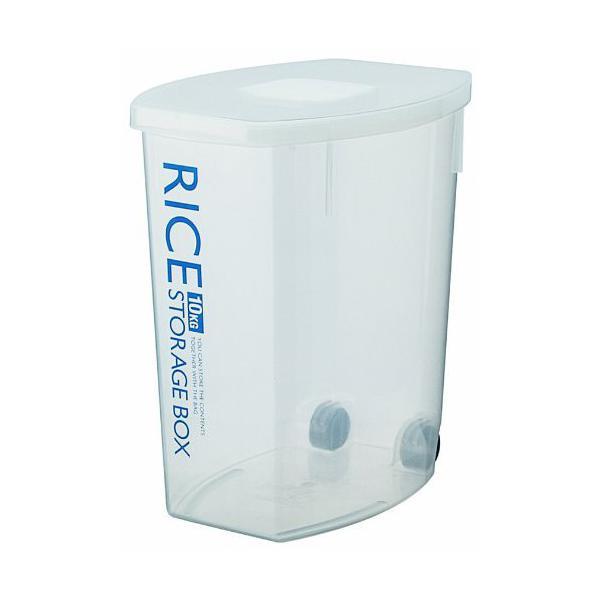 白米 防虫  防虫こめびつ 10kg DRF10  お米 収納 防虫剤 ストッパー フタ ふた 蓋 クリア 透明 プラスチック 計量