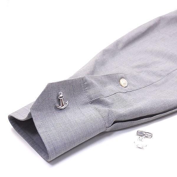 錨の銀製カフリンクス