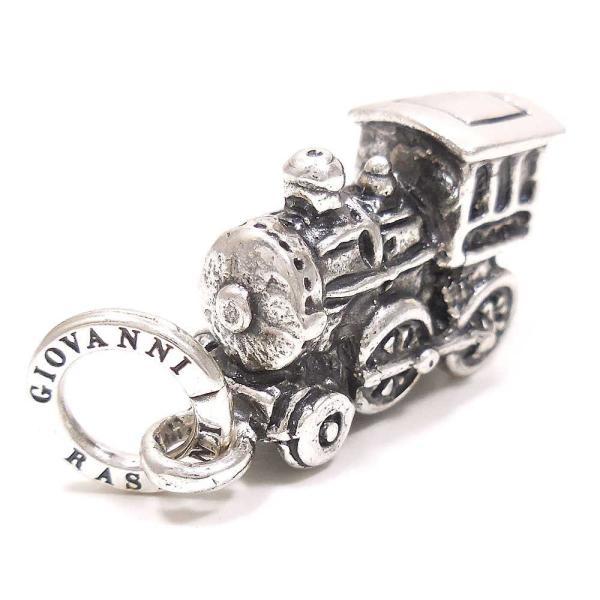 機関車の燻し銀チャーム