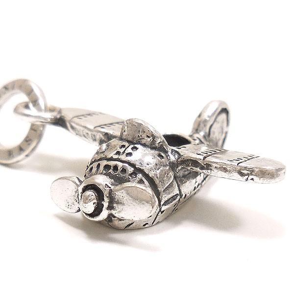 飛行機の燻し銀チャーム