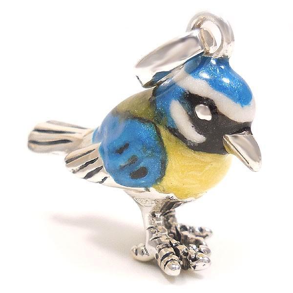 サツルノ:青い鳥の銀製チャーム