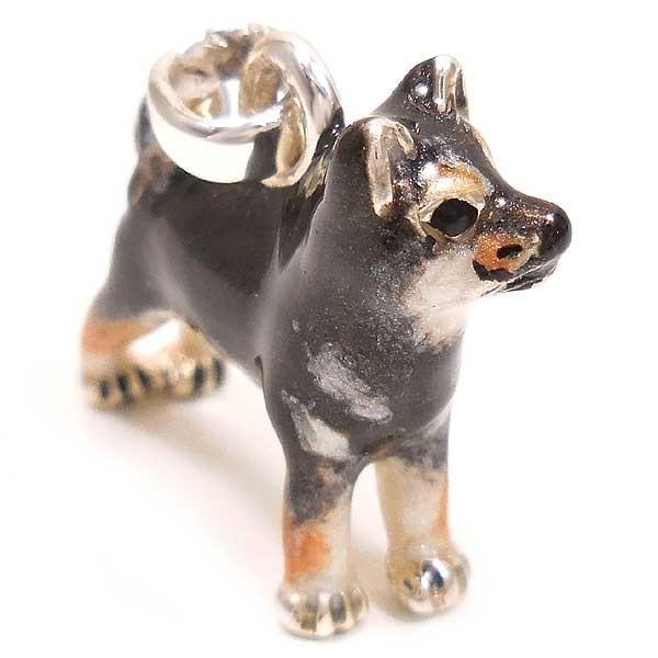 サツルノ:柴犬の銀製チャーム