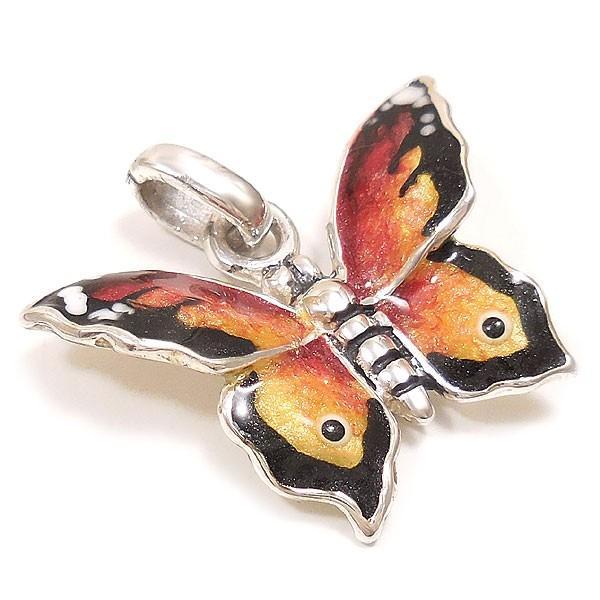 サツルノ:蝶々の銀製チャーム