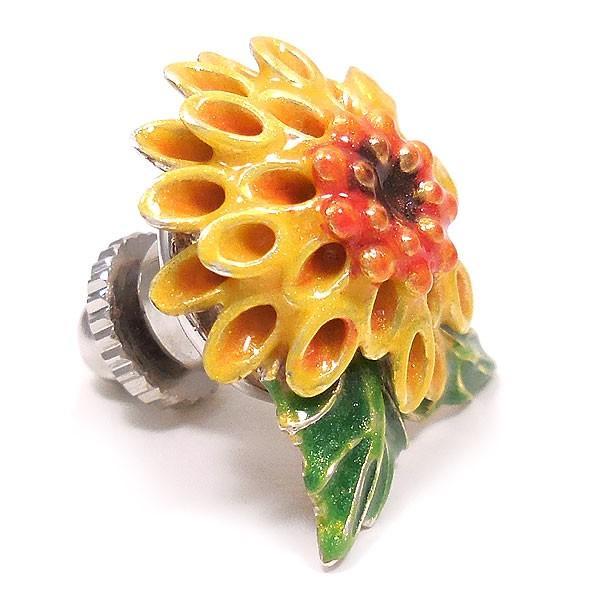 サツルノ:ピンポン菊のピンバッジ
