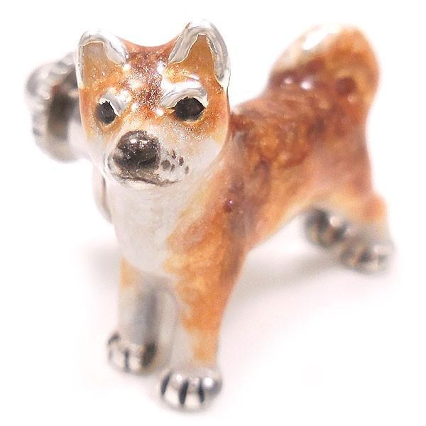 サツルノ:柴犬のピンバッジ