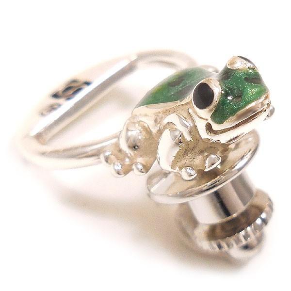 サツルノ:蛙のピンバッジ