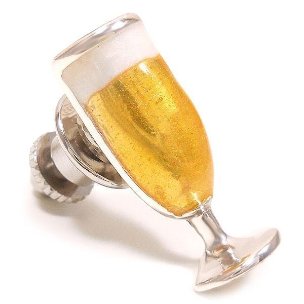 サツルノ:ビールグラスのピンバッジ