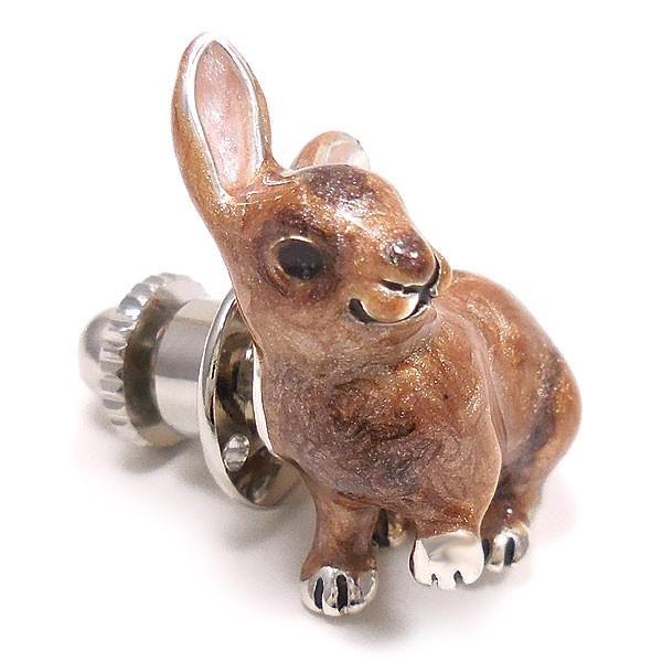 サツルノ:ウサギのピンバッジ