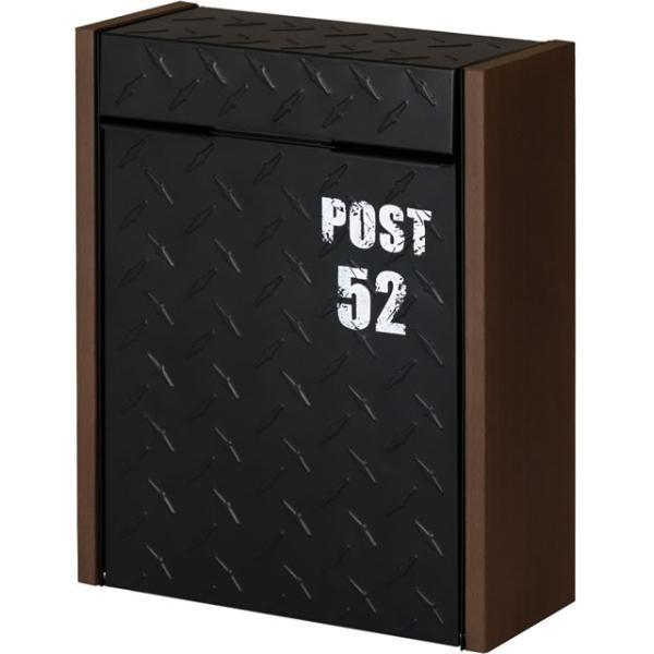 ヤマソロ 壁掛けポスト グリル 73-106(BK) ブラック色 鍵付き|entorance
