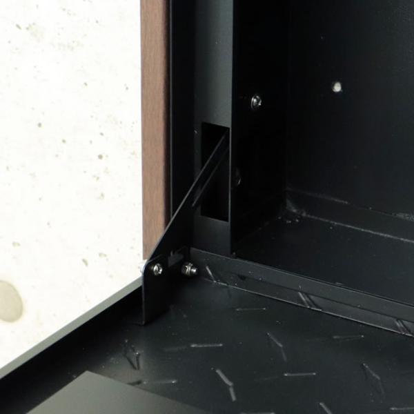 ヤマソロ 壁掛けポスト グリル 73-106(BK) ブラック色 鍵付き|entorance|03