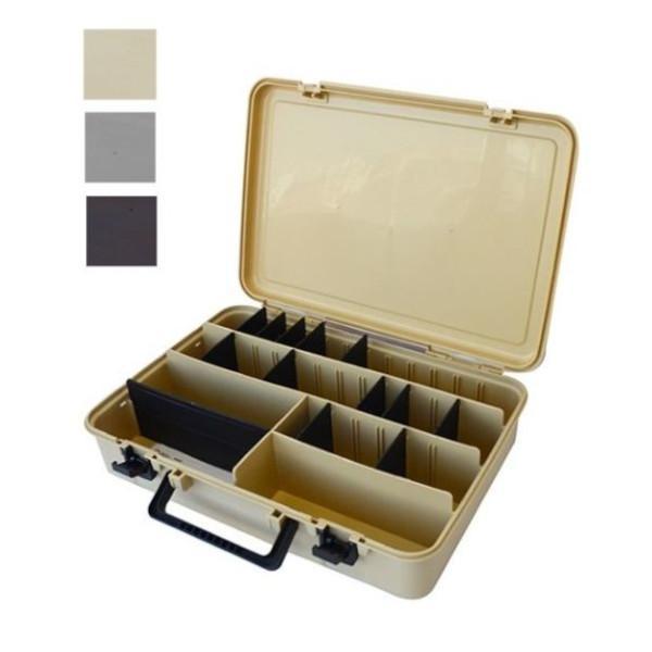 585 マルチツールボックス / 釣り アウトドア ガレージ 収納 小物収納 ボックス マルチ スタッキング可 仕分シール付き 仕切り板付 / bcl