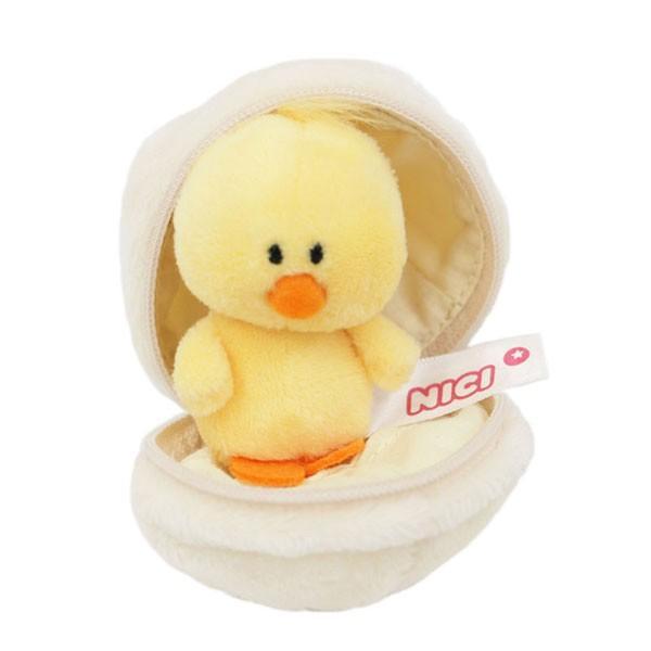 キーリング タマゴ+ヒヨコ 7cm NICI ニキ ドイツ ぬいぐるみ ビーンバッグ キーリング アニマル 鳥 ひよこ たまご 卵 エッグ キーホルダー Easter イースター
