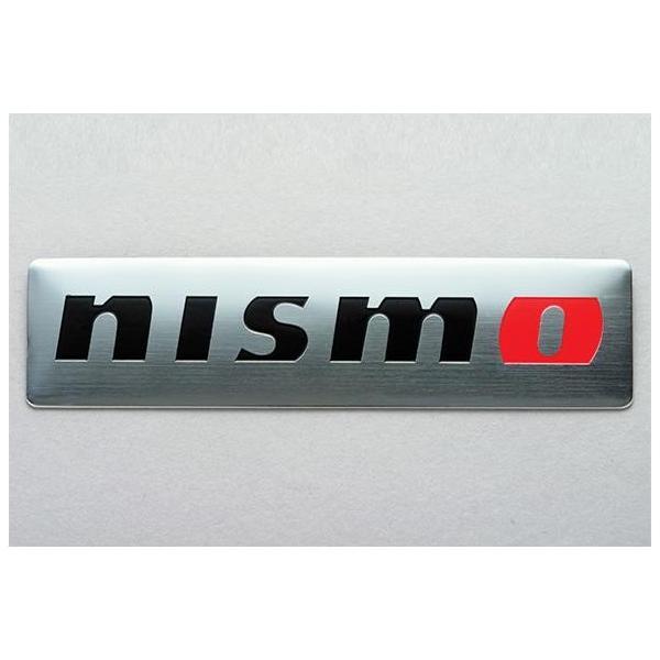 【正規国内ニッサン純正】 日産コレクション ニスモ メタルエンブレム シルバー 真鍮製 ステッカー
