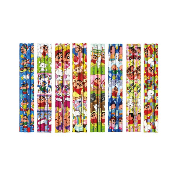 子供会 景品 クレヨンしんちゃんキュート4本鉛筆セット(25袋セット) 3166