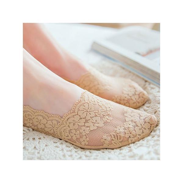 靴下 フットカバー  カバーソックス 3足セット  深履き シースルー レース 夏用 脱げにくい 履きやすい|eooplushop|03