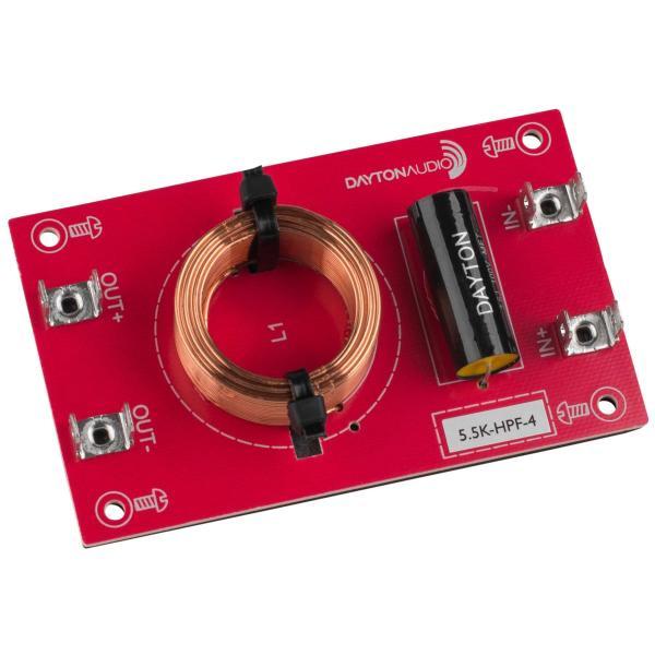 [HF23]Dayton Audio 5.5k-HPF-4 ハイパス フィルター(5,500 Hz:12 dB/Oct)