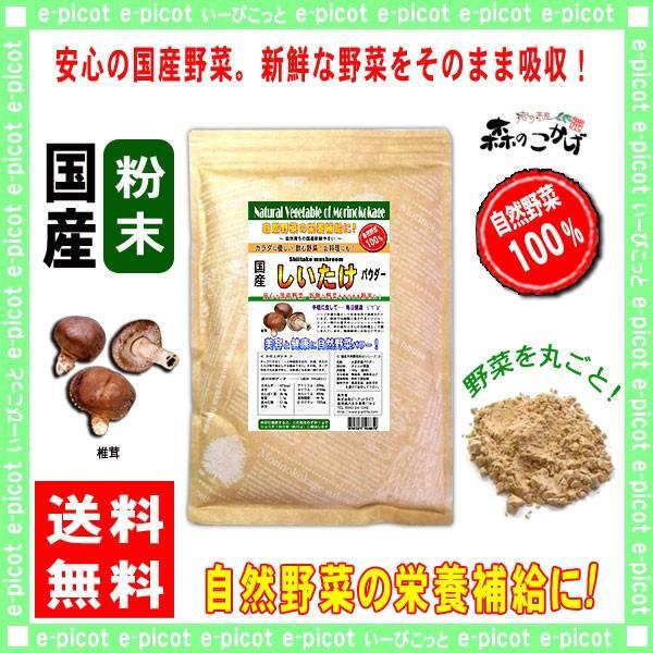 国産 椎茸 粉末 200g しいたけ キノコ パウダー 送料無料 森のこかげ 売筋粉