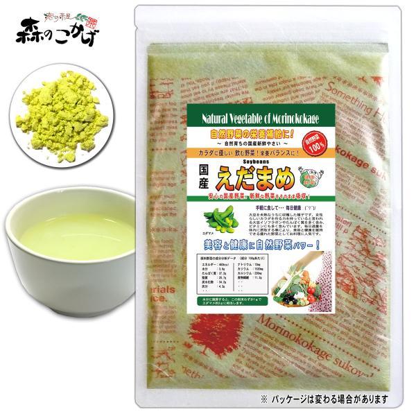 国産 エダマメ 粉末 100g 枝豆 えだまめ パウダー 野菜粉末 送料無料 ポイント消化 森のこかげ