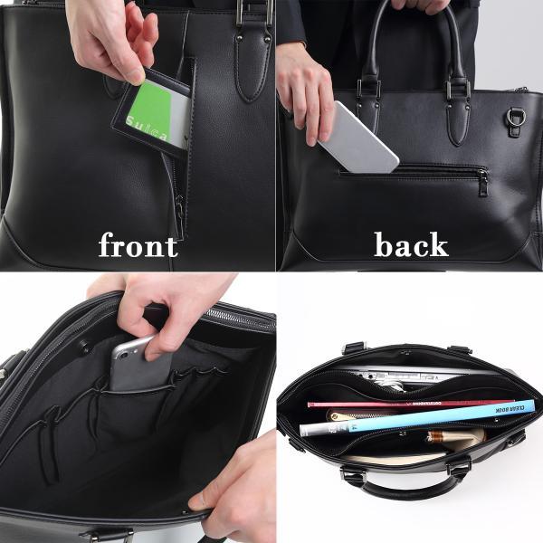 ビジネスバッグ メンズ 大容量 高品質PUレザー 高機能 2way ビジネス メンズ バッグ A4 PC 使い勝手 ジャズマンクラシックトート おしゃれ カバン 鞄 40代 50代|epoca|05