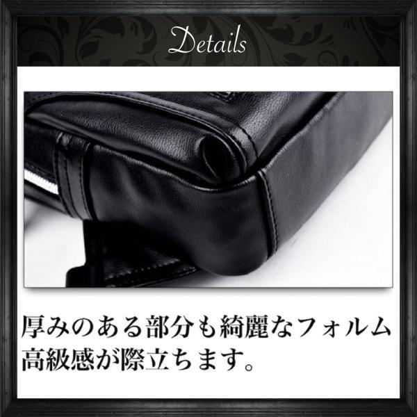 ボディバッグ メンズ ショルダーバッグ 斜めがけ バッグ 革 レザー 防水 BB02 送料無料|eredita-ys|12