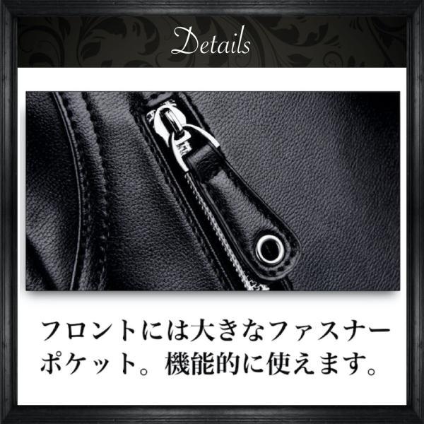ボディバッグ メンズ ショルダーバッグ 斜めがけ バッグ 革 レザー 防水 BB02 送料無料|eredita-ys|10