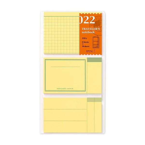 TRAVELER'S notebook トラベラーズノート用リフィル 付せん紙 022 (付箋/MIDORI/ミドリ/レフィル/リファイル)