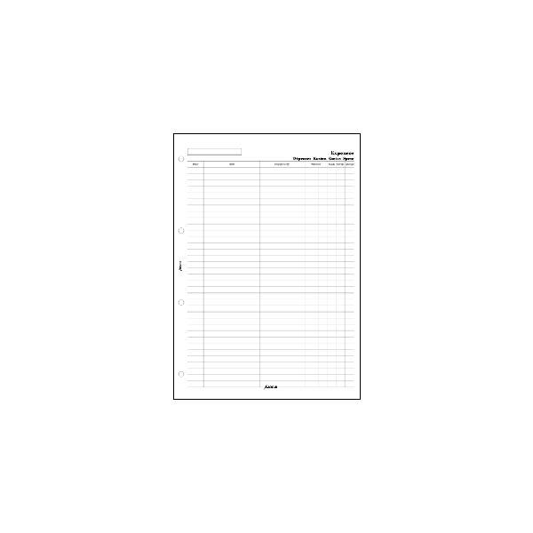 FILOFAX <br>システム手帳リフィル A4 4穴サイズ <br>エクスペンス 254074