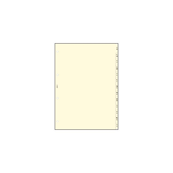 FILOFAX <br>システム手帳リフィル A4 4穴サイズ <br>A-Zインデックス クリーム 291667