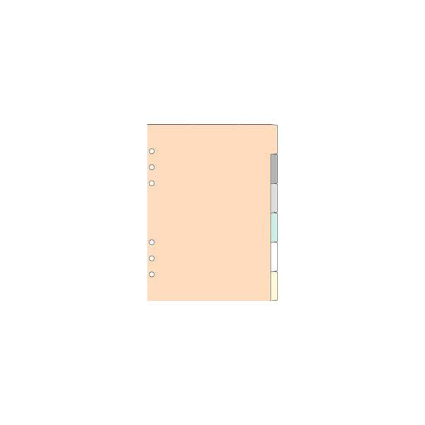 Davinci システム手帳リフィル A5サイズ カラーインデックス 6区分