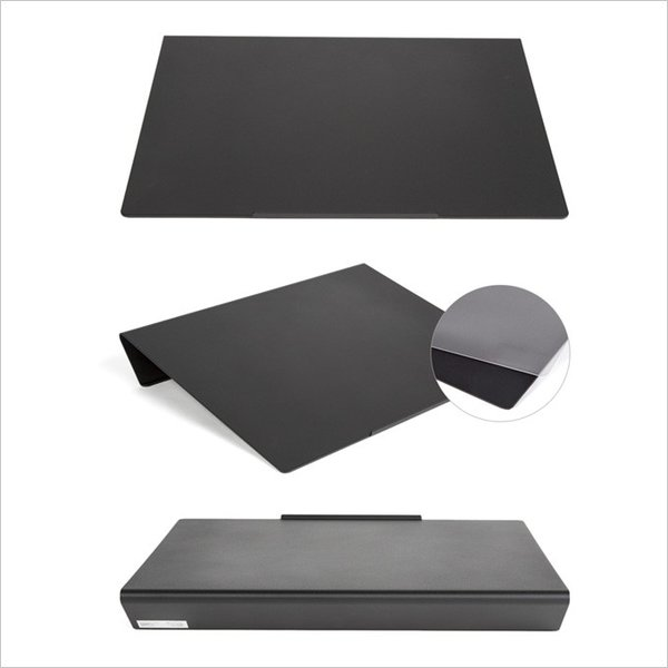 angle10 アングルテン ノートパソコンスタンド パソコン キーボード 台 PC 卓上傾斜台 猫背 姿勢 改善 BORDERLESS 専用マット付属 送料無料 シルバー ブラック|ergohuman|12