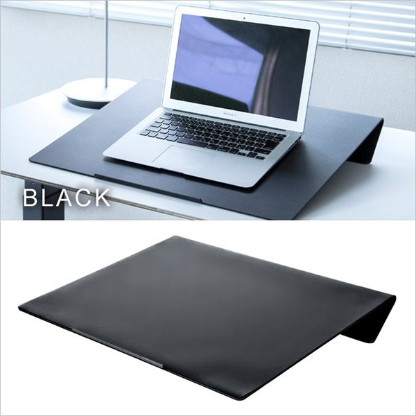 angle10 アングルテン ノートパソコンスタンド パソコン キーボード 台 PC 卓上傾斜台 猫背 姿勢 改善 BORDERLESS 専用マット付属 送料無料 シルバー ブラック|ergohuman|08