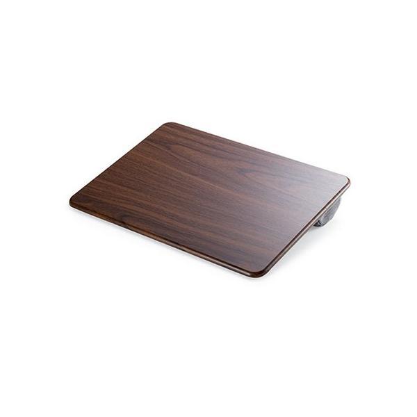 膝上テーブル ノートパソコンPCスタンド ラップトップテーブル 車 木目調|ergs