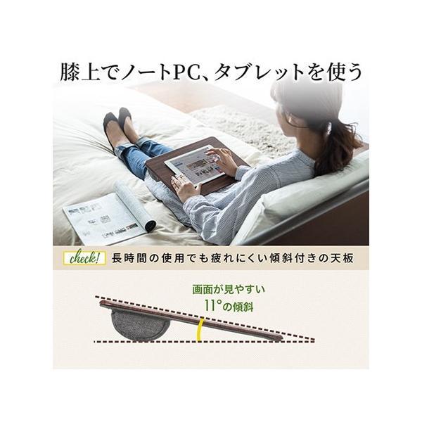 膝上テーブル ノートパソコンPCスタンド ラップトップテーブル 車 木目調|ergs|02
